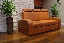 Echt Leder 3 Sitzer Sofa mit Bettfunktion  Echtes Leder Couch Rindsleder