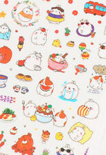 Molang funny cute kawaii podgy potato rabbit set of 6 sheets of stickers SET 3