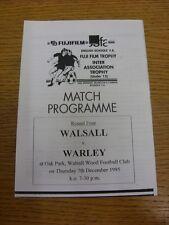 07/12/1995 At Walsall Wood: Walsall Schools U15 v Warley Schools U15 [English Sc