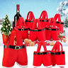 Cute Christmas CANDY GIFT TOYS BAG Red Santa Pants EIf Shoes Treat Bags for Xmas