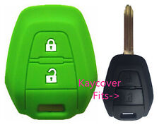 GREEN SILICONE CAR KEY COVER CASE SUITS ISUZU DMAX D-MAX MUX TRUCK UTE 2013