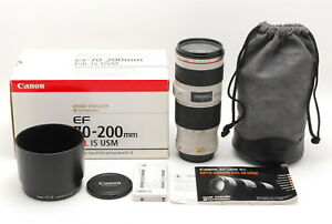 【MINT+++】Canon EF 70-200mm F/4 L IS USM Zoom Lens From JAPAN