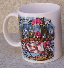 Coffee Mug Explore America Alabama Greetings Montage NEW 11 ounce cup w gift box