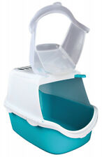 Trixie Vico Easy Clean Cat Litter Tray With Dome 40 X 56 Cm Turquoise/white