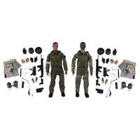 2x 1/6 Actionfigur Armee Soldaten Spielzeug mit Waffen Militärfiguren Modell