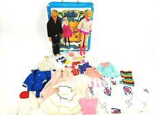 Vintage 1965 Twist n Turn Barbie w/1968 Ken Doll Vintage Case & Clothing Lot