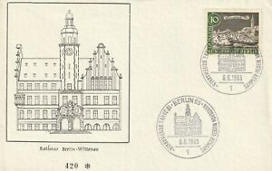 GERMANY 8 JUNE 1963 RATHANS BERLIN WITTENAU UNADDRESSED FIRST DAY COVER CDS