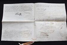 1789  Rare Vellum Manuscript of Queen Maria I Portugal & Brazil - 12 signatures