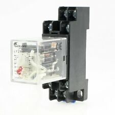 Ac 220V bobine 8 broches din rail electromagnetic power relay 8 broches 10A LY2NJ w base