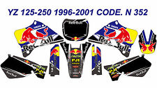 N352 YAMAHA YZ 125-250 1996-2001 Autocollants Déco Graphics Stickers Decals Kits