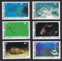 Wallis and Futuna Fish Shells Corals Undersea Fauna 6v 1981 ** MNH SG#370-375