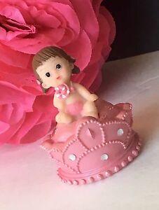 12-Babyshower Princess It's A Girl Gender Reveal/ Cake Decorations Crown