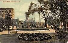 Camden New Jersey Cooper Park Street View Antique Postcard K56063