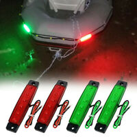 4Pcs Red Green Boat Navigation LED Lights Stern Lights Boats Starboard Ligh P9N3