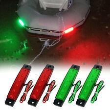 4Pcs Red Green Boat Navigation LED Lights Stern Lights Boats Starboard Ligh P9N3