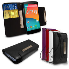 GENUINE ORZLY SLIM WALLET FLIP CASE FOR LG GOOGLE NEXUS 5 - CREDIT CARD POCKETS