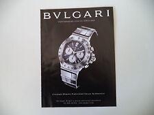 advertising Pubblicità 2002 BULGARI DIAGONO PROFESSIONAL CHRONO TACHIMETRO