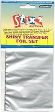10 SHEETS TRANSFER FOILS SHINY METALLIC SILVER CARDMAKING HOBBY STIX2 S57112