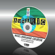 Sprechen Lernen Amharisch PC CD Sprachkurs Einfach Anfänger Programm MP3 + Text