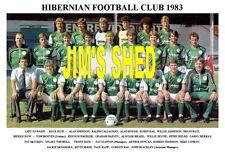 HIBERNIAN F.C.TEAM PRINT 1983 (ROUGH / McNAMARA / KANE / RAE )