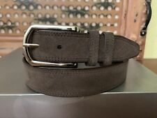 Tulliani  Brown Suede Genuine  Leather Belt Size 40 Excellent