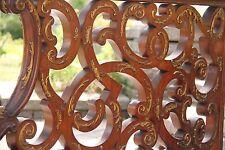 19C Italian Baroque Royal Palace Carved Gilded Oak Serpentine Hand Rail
