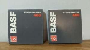 "2x BASF SM 468 Studio Master Reel-To-Reel Tape - 1/4"" 625ft Tape - 5"" Reel"