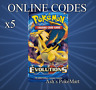 Pokemon Trading Card Game ONLINE code for EVOLUTIONS (EMAIL) 5x