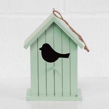 Wooden Bird Nesting House Box Tree Feeder Robin Sparrow Blue Tit Garden Decor