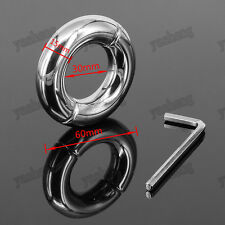 Stainless Steel Ball Stretcher Man Enhancer Chastity Ring Delay Time I.D 30mm