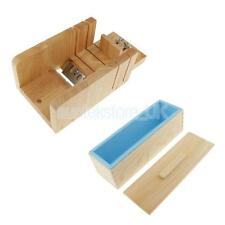 Adjustable Loaf Soap Cutter Wooden Box + Rectangle Silicone Soap Cake Molds