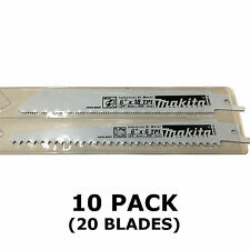 MAKITA RECIPROCATING SAW BLADES - 10 PACKS OF 2 - METAL & WOOD CUT 150mm BJR181