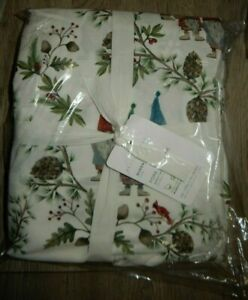 Pottery Barn Forest Gnome Queen Sheet Set NIP