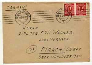 9523)  GERMANY ALLIED OCCUP. 1946 Cover Halle - Pirach