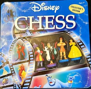 Disney Chess Set Collectors Edition Heroes Vs Villains Ultimate Game of Stategy