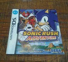 Notice (Sans Jeu)  Nintendo DS Sonic rush adventure