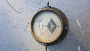 Amperemeter Antik Messgerät Mess ing vernickelt Strohmmessgerät bis 3 Ampere
