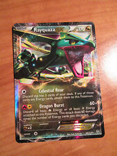 Dmg Pokemon Rayquaza Ex card Dragons Exalted Set 85/124 Black and/&White Bw Rare