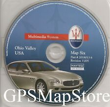 2004-2009 Maserati Quattroporte Navigation CD #6 KY WV Partial IN TN MD NY OH PA