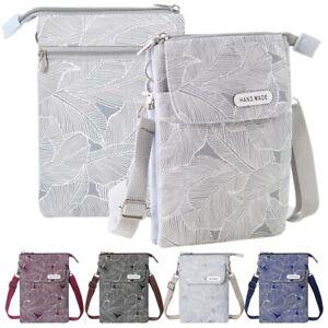 Women Leaf Pattern Small Crossbody Bag Lightweight Shoulder Bags Cellphone Pouch