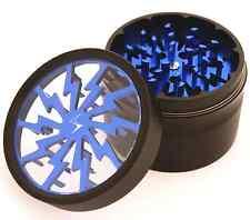Chromium Crusher 2.5 Inch 4 Piece Tobacco Spice Herb Grinder- Blue