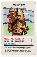 Original 1978 Dr Doctor Who Top Trumps type card Jotastar The Zygons