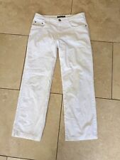 Lovely Betty Barclay Elements 5 pocket Straight Fit Jeans White Size 10