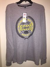 ECKO UNLTD. Men's Long Sleeve Crewneck Thermal Top HEATHER GREY Size M NEW Tags