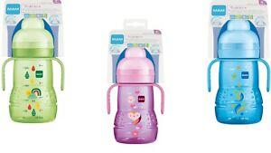 MAM Babyflaschen Trainer +  Gr.4 +  220 ml incl. Sauger 3, Trinklernbecher,Neu