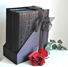"""Two Luxury Embossed Photo Album Keepsakes"" - JaNice Interiors Accessories."