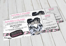 50 Gay/Lesbian Cop Police Mme & Mme Festival ticket Mariage Invitations!