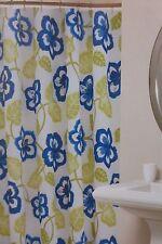 "Coastal Collection Floral Fabric Shower Curtain 72"" x 72"" NIP"