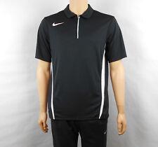 Nike Dri-Fit Shirt Mens Black Polo Short Sleeve Quarter Zip Collar M Medium