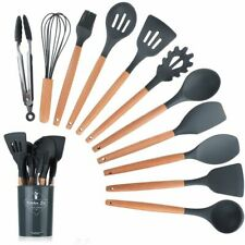 Cooking Tools Nonstick Cookware Silicon Kitchen Set Bamboo Handles Cooking Tool
